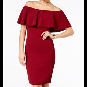 Maroon Dress by almost famous off the shoulder